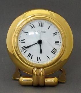 "Cartier ""pendulette Colisee"" Desk Clock"