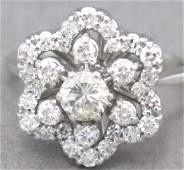 18K White Gold Diamond Ring by Jabel