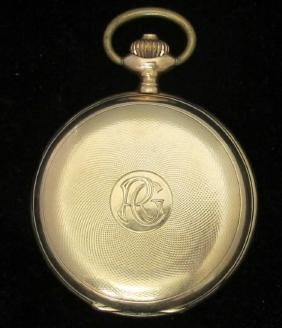 Gent's 14k Sunday Pocket Watch