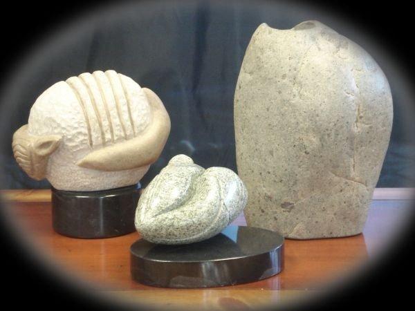 Three Stone Sculptures