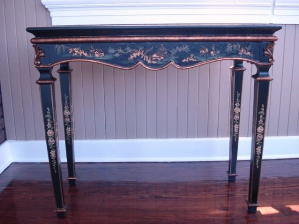 9: Hand-painted Asian Decorator Table