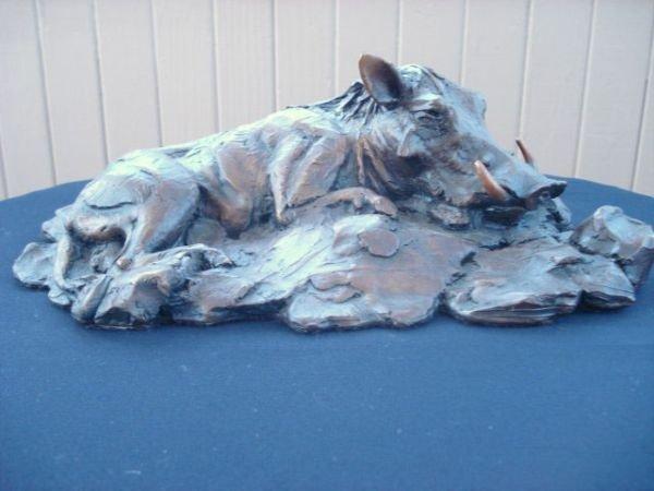 10: Bronze Warthog Sculpture