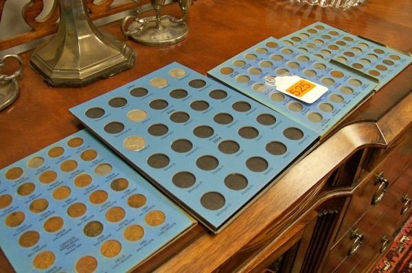525: ASSORTED PENNY/QUARTER COLLECTION