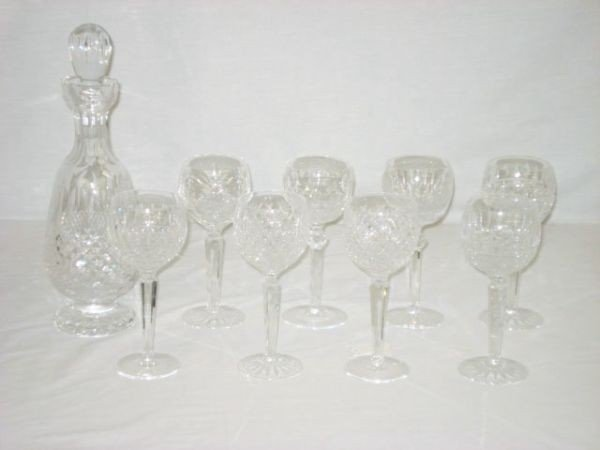 4: Waterford Decanter and Goblets