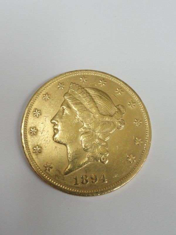 14: $20 U.S. Gold Coin 1894