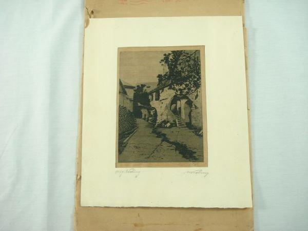 19: Litho Italian Street Scene