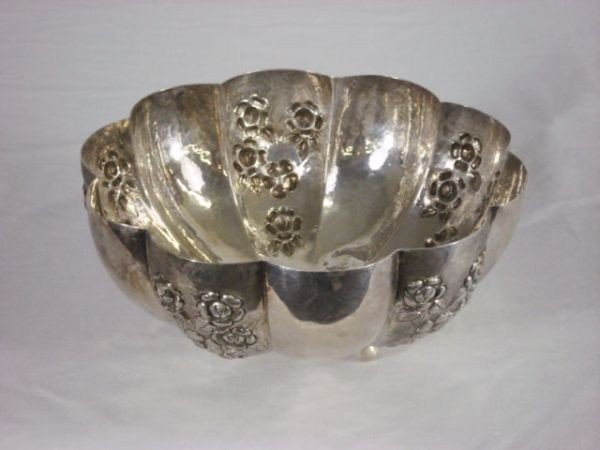 24: Sterling Repousse Bowl