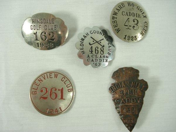 290: 5 Caddie Badges