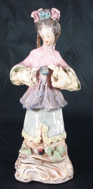 1002: Early 1900s Geisha Girl Ceramic Figurine