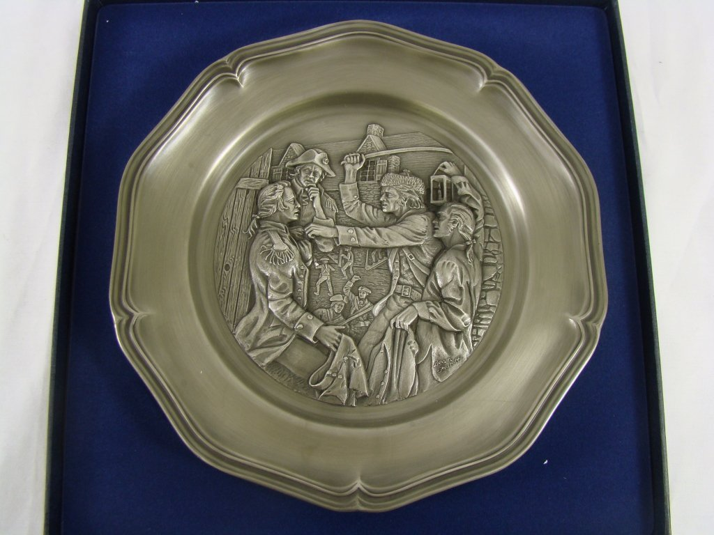 1006: Franklin Mint Pewter Plate
