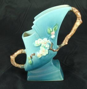 """1007: Roseville Vase, """"Apple Blossom"""""""
