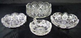 1019: 4 Cut Glass Bowls