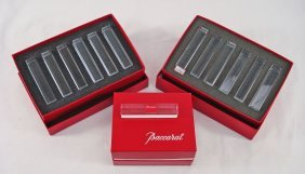 1020: 13 Baccarat Crystal Knife Rests in Original Boxes
