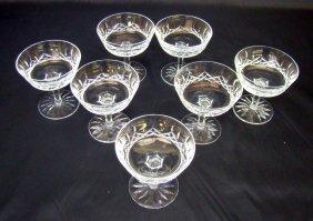 "1021: 7 Waterford Sherbet Glasses ""Lismore"""