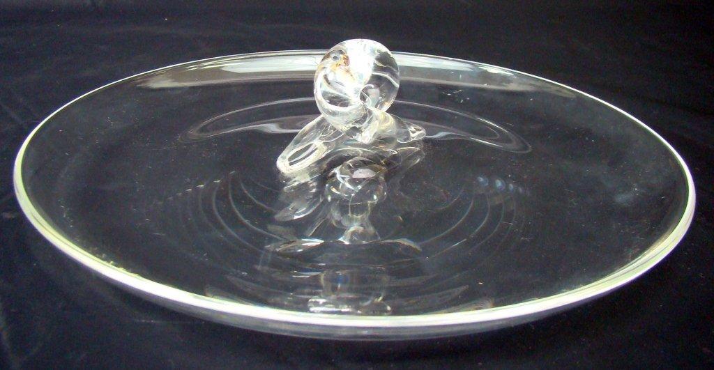 1022: Steuben Crystal Serving Dish