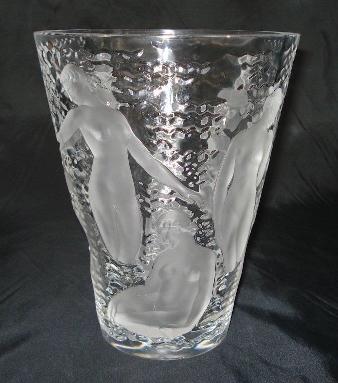 """1024: Lalique Vase """"Ondines"""""""