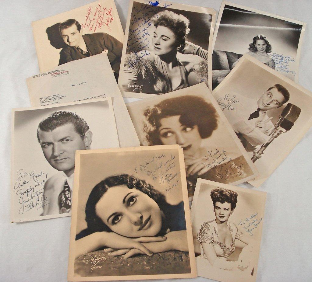 1028: Lot of (8) Autographed Portraits
