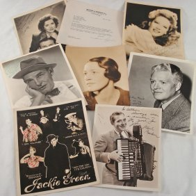 Lot Of (7) Autographed Portraits