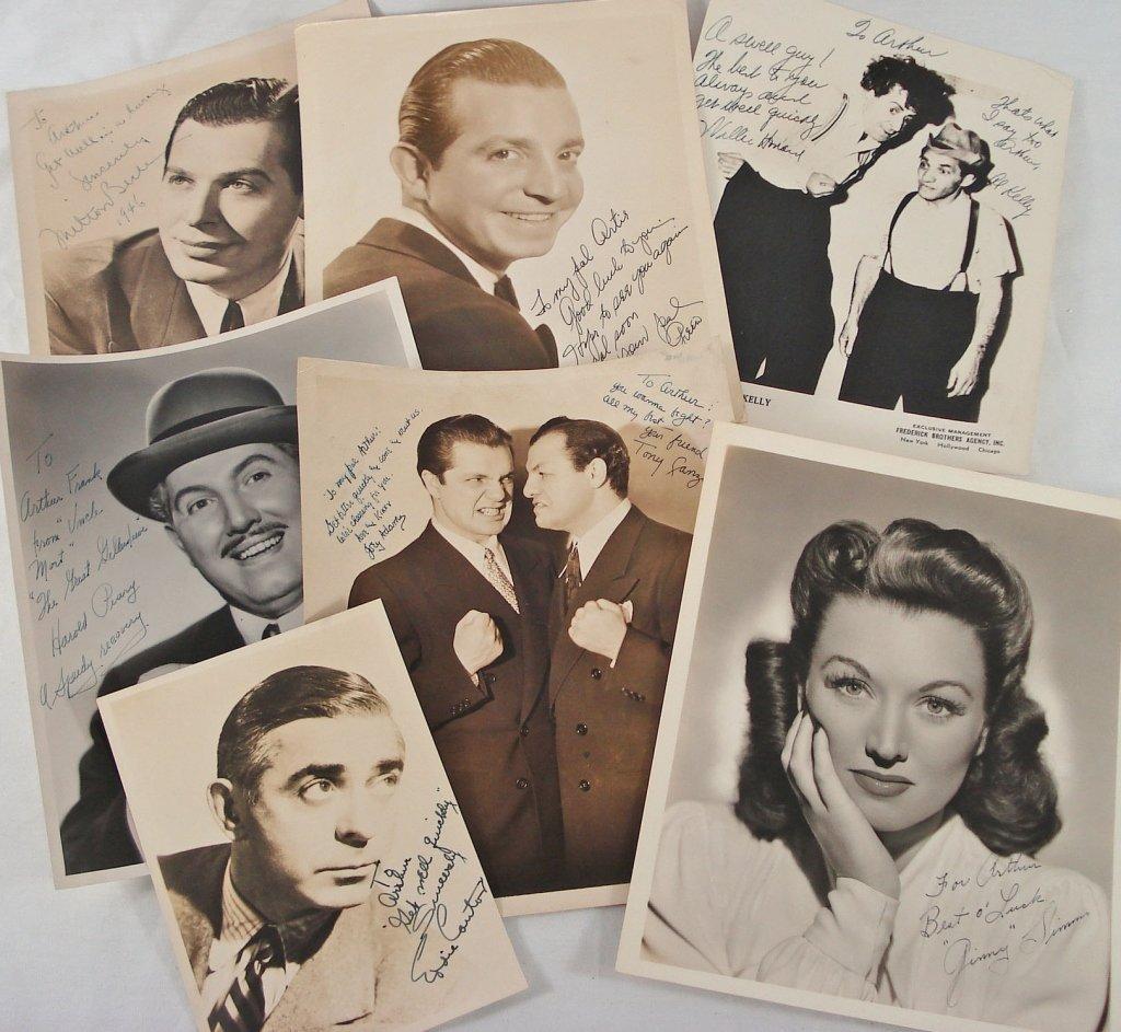 1030: Lot of (7) Autographed Portraits
