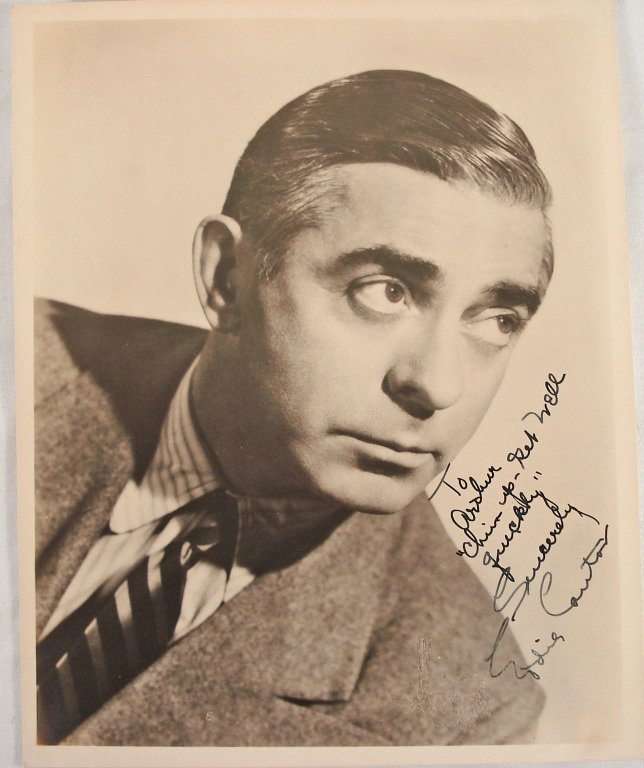 1031: Autographed 8x10 Eddie Cantor