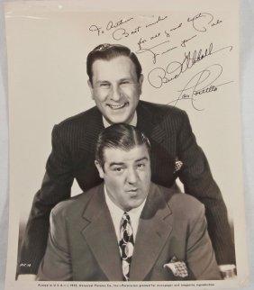 1032: Autographed 8x10 Bud Abbott / Lou Costello