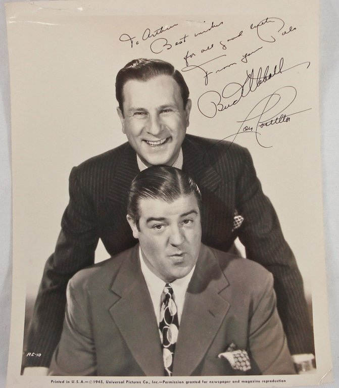 1032: Autographed 8x10 Bud Abbott / Lou Costello