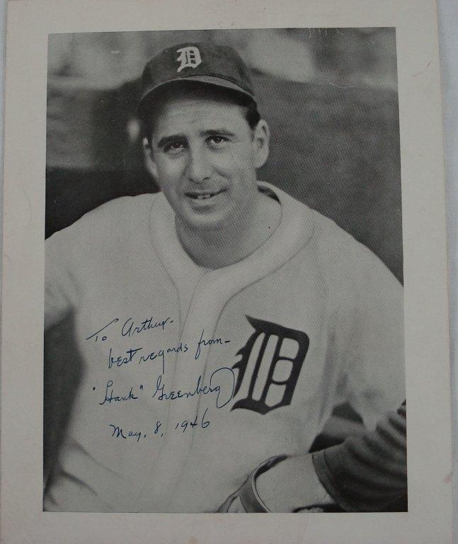 1035: Autographed 8x10 Hank Greenberg