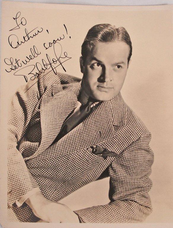 1036: Autographed 8x10 Bob Hope 1940's