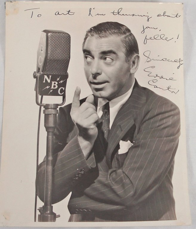 1040: Autographed 8x10 Eddie Cantor