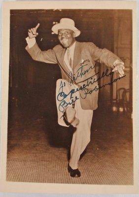 "Autographed 5x7 Bill Robinson ""Bojangles"""