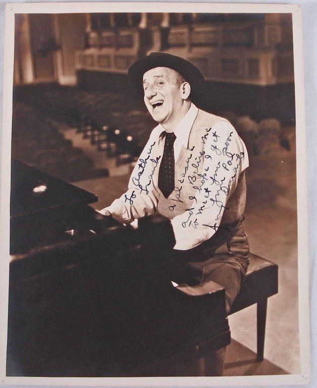 1045: Autographed 8x10 Jimmy Durante