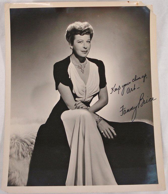1046: Autographed 8x10 Fanny Brice