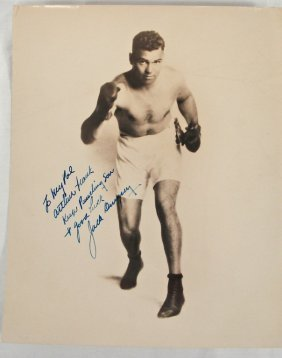 Autographed 8x10 Jack Dempsey