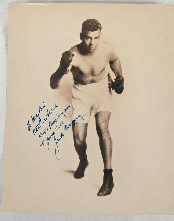 1047: Autographed 8x10 Jack Dempsey