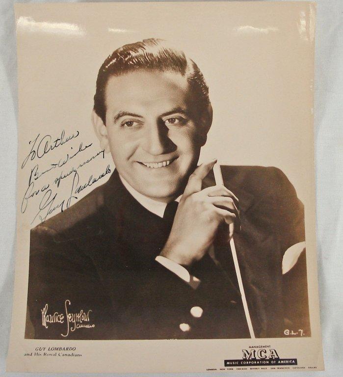 1048: Autographed 8x10 Guy Lombardo