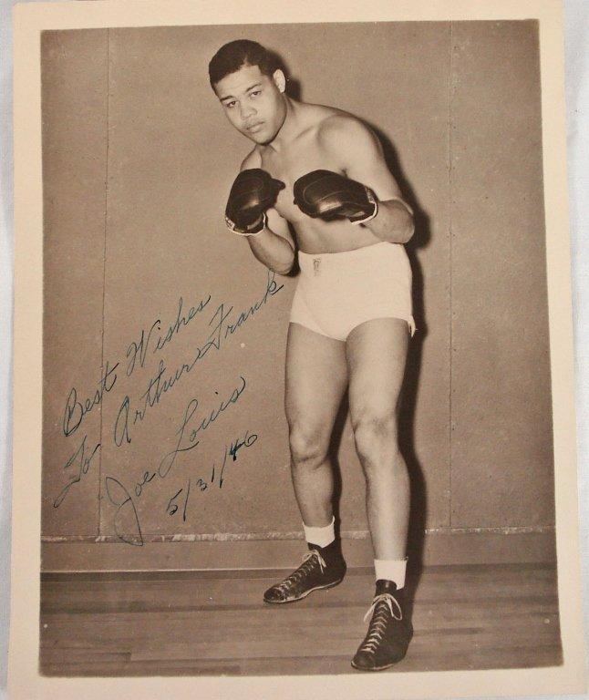 1051: Autographed 8x10 Joe Louis