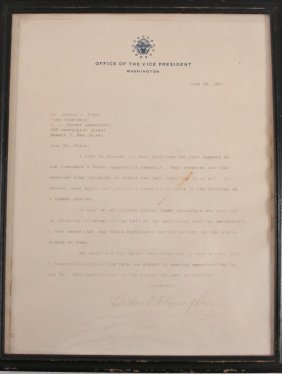 Letter Dated June 10, 1965 From Hubert H. Humphre