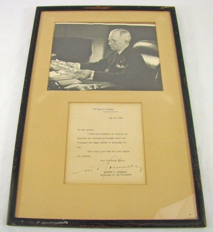 1056: Signed Portrait Harry S. Truman