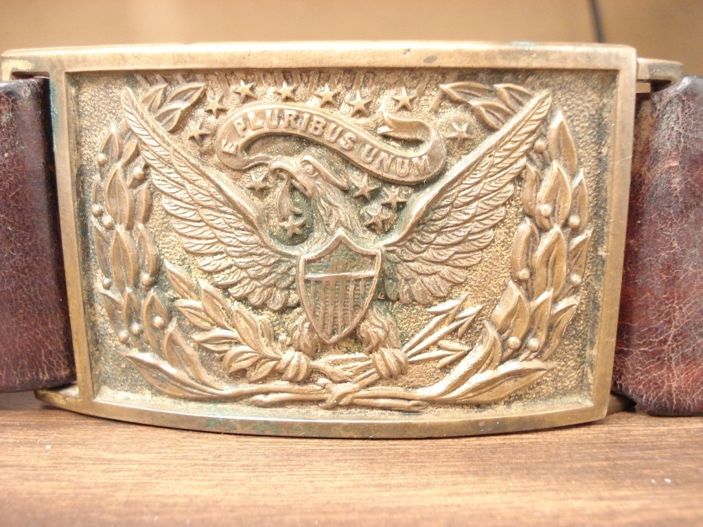 1065: M.1851 US Army Sword Belt Plate (Buckle) and Clas
