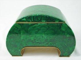 Malachite Arch-Shaped Box