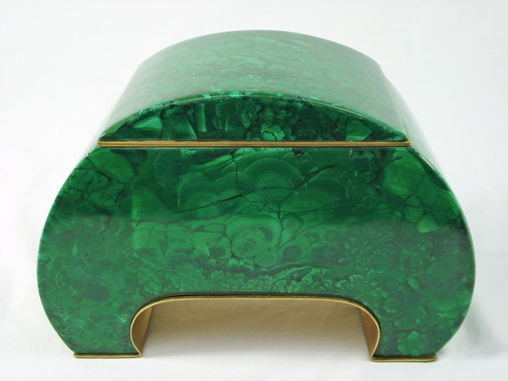 1068: Malachite Arch-Shaped Box