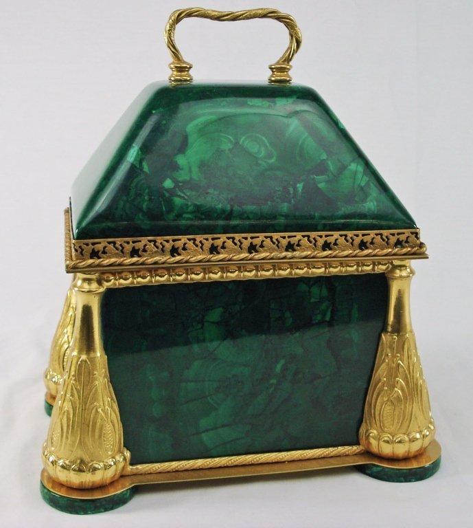 1069: Malachite Document Box with Ormolu