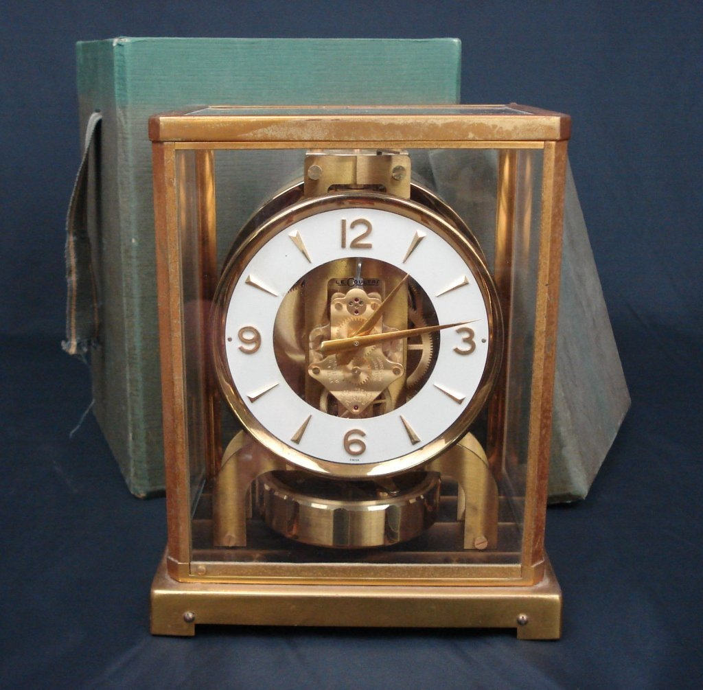 1072: Le Coultre Atmospheric Clock with Original Box