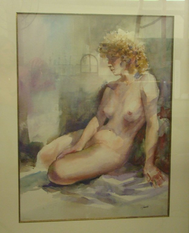1081: Nude Watercolor by Virginia Fouche Bolton