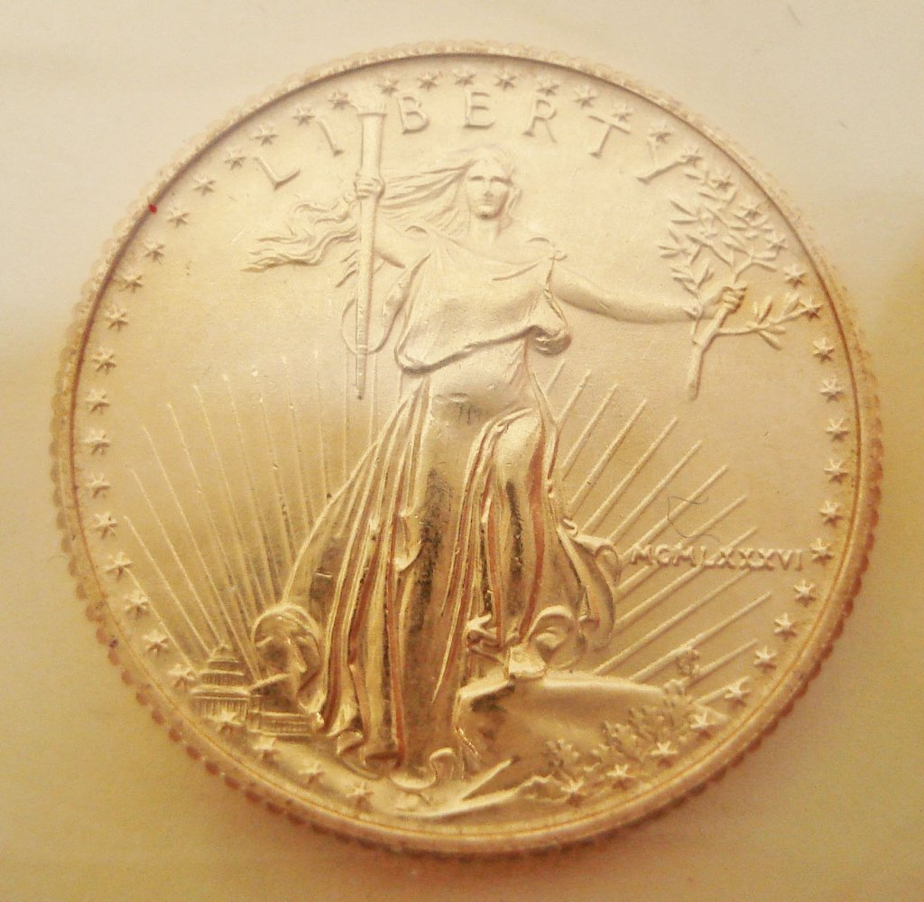 1090: 1986 Liberty 24K Gold Coin
