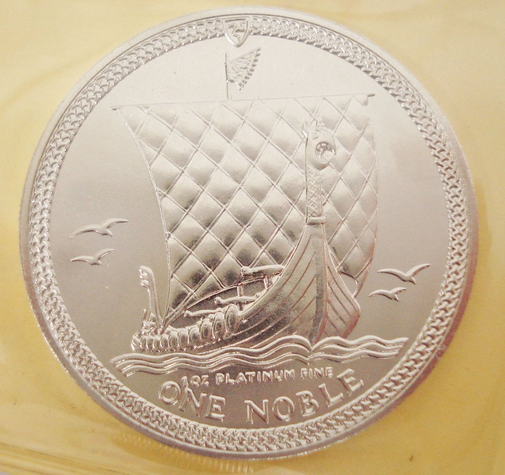 1095: 1987 Isle of Man Noble Platinum Coin