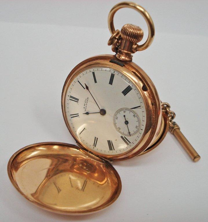 1101: A.W. Co. Waltham 14K Pocket Watch