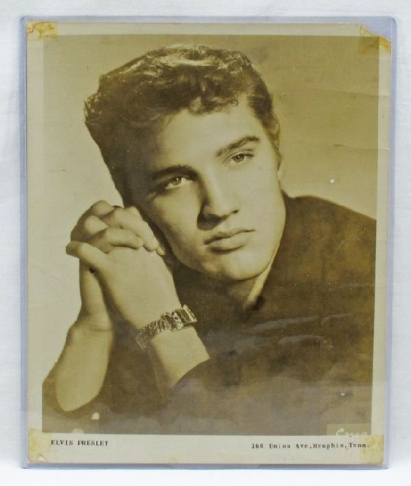 1: Elvis Presley Photo, Autographed on Reverse