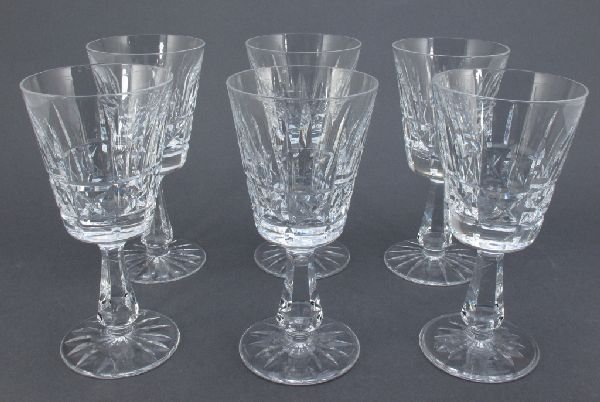 3: 6 Waterford White Wine Glasses Kylemore""