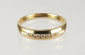 Gent's Diamond Wedding Band 14K